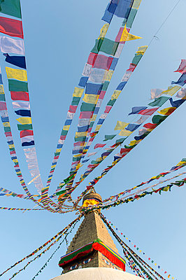 Stupa in the district Bodnath of Kathmandu - p949m948561 by Frauke Schumann
