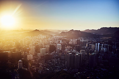 View over Seoul - p1492m2178688 by Leopold Fiala