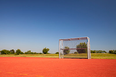 Germany, Ruhr area, Gelsenkirchen, sports field near coal mine Consolidation - p300m978116f by Wilfried Wirth