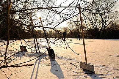 Snow shovels - p470m658645 by Ingrid Michel