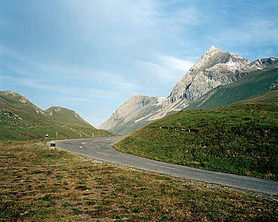 Curved road at Albula Pass  - p6441262 by Neil Barclay