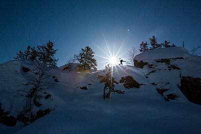 Night sky over Yellowknife - p343m1184596 by Paul Zizka
