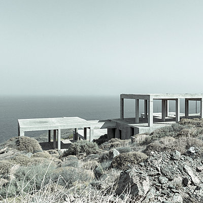 Shell construction on the waterfront, Kea, Greece - p1624m2195941 by Gabriela Torres Ruiz