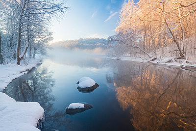 River at winter - p312m2119552 by Johner