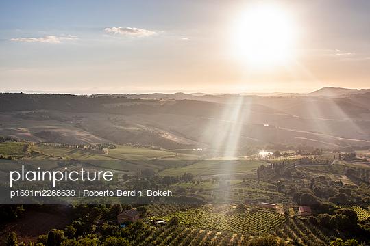 Montepulciano Tuscany valley landscape - p1691m2288639 by Roberto Berdini Bokeh