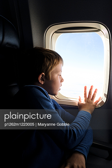 Airplane Window - p1262m1223005 by Maryanne Gobble