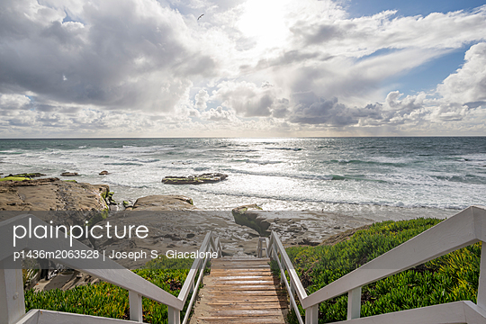 February afternoon above Windansea Beach - p1436m2063528 by Joseph S. Giacalone