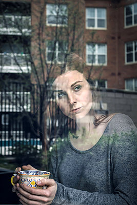 Pensive American Young Woman - p1019m1332535 by Stephen Carroll