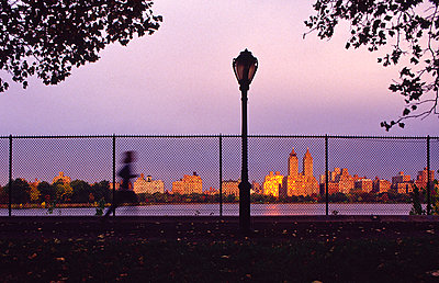 Central park reservoir runner - p1125m1203687 by jonlove
