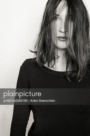 Woman in black - p1621m2260190 by Anke Doerschlen