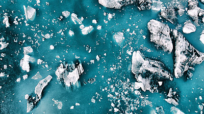Icelandic icebergs from above - p180m2043739 by Martin Llado