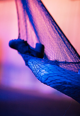 leg in a fishnet - p1635m2211757 by Amanda Witt