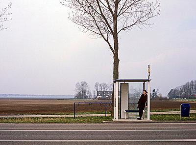 Netherlands, bus stop - p2683291 by Arne Landwehr
