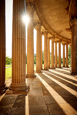 Arcades at sunlight, park of Sanssouci, Potsdam - p851m2205878 by Lohfink