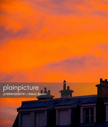 Paris, Sunset - p1654m2253741 by Alexis Bastin