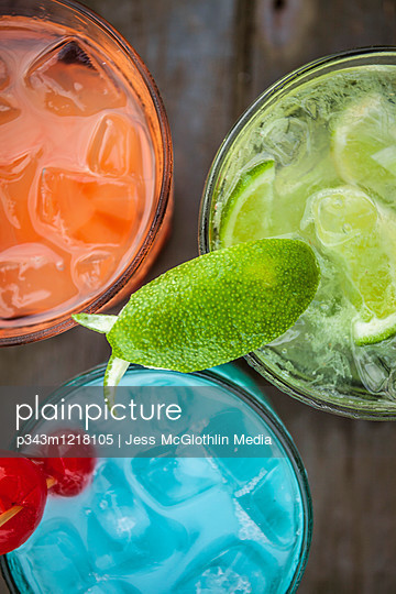 Colorful tropical drinks at El Pescador Lodge in Belize