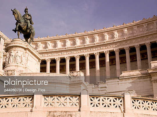 Monument to Vittorio Emanuele II, Rome, Italy; Monument to the first king of a unified Italy completed in 1935