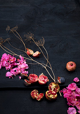 Fruits and flowers as deco - p1371m2045548 by virginie perocheau