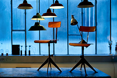 the chairs - p1553m2141579 by matthieu grospiron