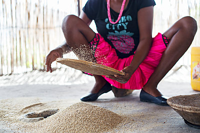 Africa, Namibia, Staple food, Millet - p1167m2272282 by Maria Schiffer