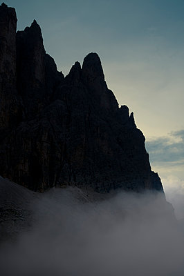 Pale di San Martino with fog - p470m2128889 by Ingrid Michel