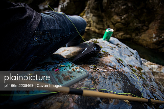 Everything you need to go fly fishing in Washington rivers - p1166m2208469 by Cavan Images