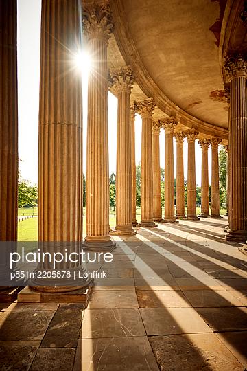 Arcades at sunlight, park of Sanssouci, Potsdam - p851m2205878 by Lohfink