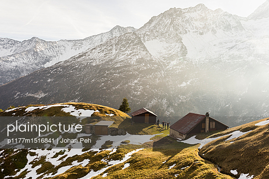 Alpine huts - p1177m1516841 by Philip Frowein