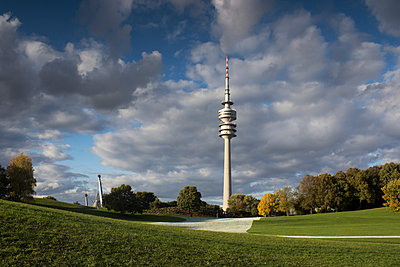 Germany, Bavaria, Munich, Olympic Tower and Olympic Park - p300m926353f by Dieter Heinemann