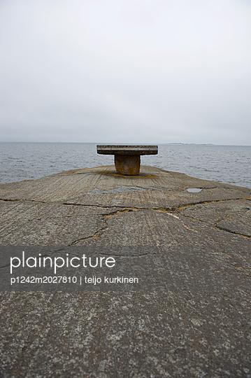 Poller am Pier von Hanko - p1242m2027810 von teijo kurkinen
