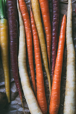 Colorful Carrots - p1262m1119992 by Maryanne Gobble