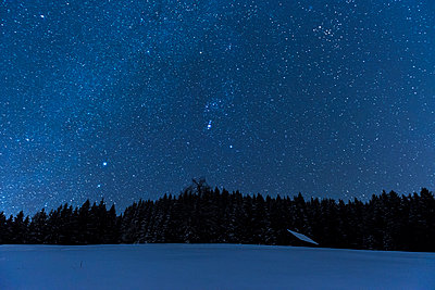 Night sky in the Alps - p282m953192 by Holger Salach
