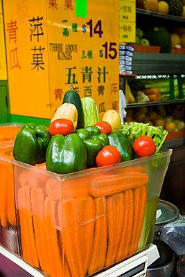 Fruit juice and smoothies shop; Mong Kok, Kowloon. Hong Kong, China - p442m839946 by Naki Kouyioumtzis