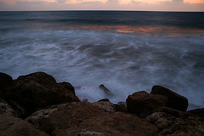 Israel, Stormy sea - p1643m2229377 by janice mersiovsky