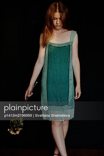 Young woman in elegant dress - p1412m2196959 by Svetlana Shemeleva