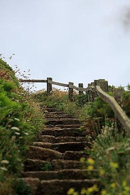 Weathered stone stairs - p179m1467230 by Roland Schneider