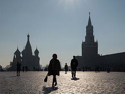Moskau, Roter Platz in Moskau  - p390m2109331 von Frank Herfort