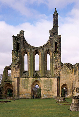 Byland Abbey. View of the inside of the West front. - p8551713 by Jeremy Richards