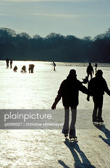 Der Teich ist zugefroren - p0390027 von Christine Höfelmeyer