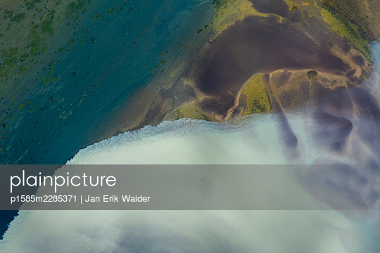 Abstract detail of the river  Ölfusá - p1585m2285371 by Jan Erik Waider