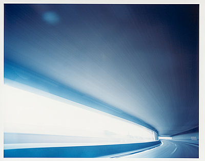 Driving through a tunnel - p1258m1491665 by Peter Hamel