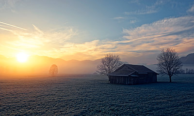 Germany, Bavaria, sunrise near Sindelsdorf - p300m1450272 by Hans Lippert