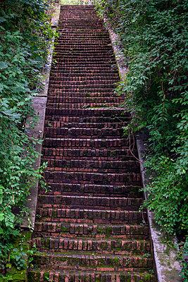 Old stairs - p817m2143105 by Daniel K Schweitzer
