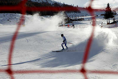 A skier on the slopes of Madesimo, Italy - p301m799749f by Marc Volk