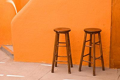 Stools, Rhodes, Greece   - p4427887f by Design Pics