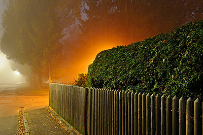 Foggy night - p715m694492 by Marina Biederbick