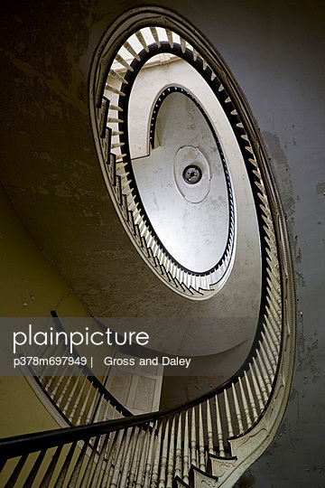Spiral stairs in old house - p378m697949 by   Gross and Daley