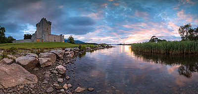 Panoramic of Ross Castle, Killarney National Park, County Kerry, Munster, Republic of Ireland, Europe - p871m2003500 by Roberto Moiola