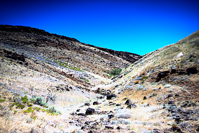 Remote Arid Hillside, Eastern Oregon, USA - p694m2218848 by Justin Hill photography