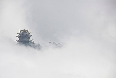 Temple at the top of Mount Emei Shan, Chengdu Province. China - p3437893 by Guillem Lopez